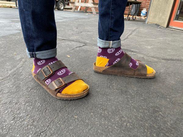 Janus socks on feet